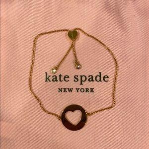 Kate Spade NY Gold Heart Pendant Slider Bracelet